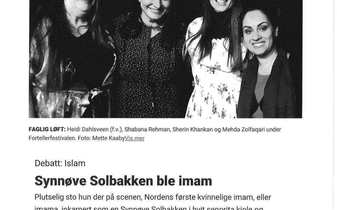 Synnøve Solbakken ble imam – Dagbladet 2017