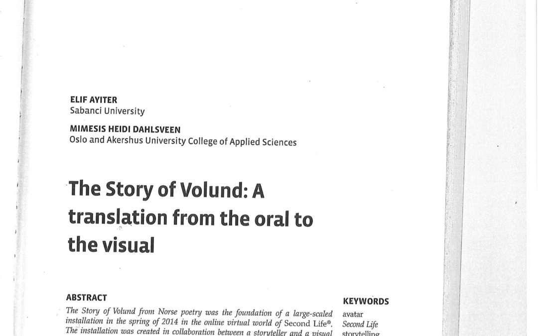 The story of Volund: A translation from the oral to the visual – 2016