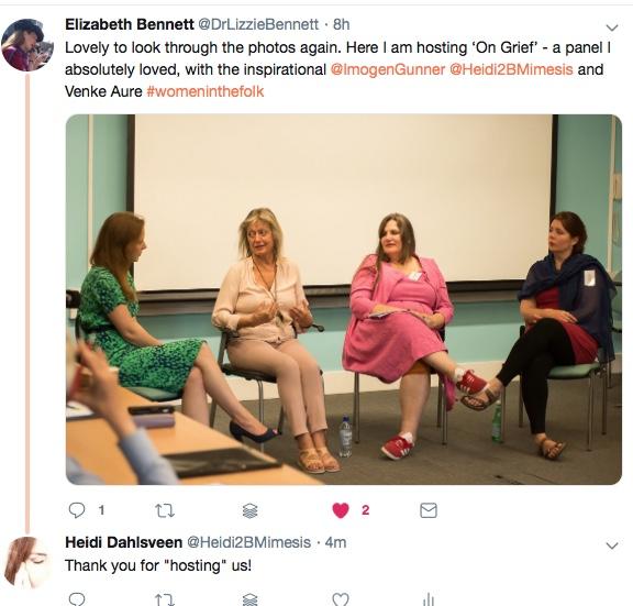 Paperperformance – Women in grief 2018