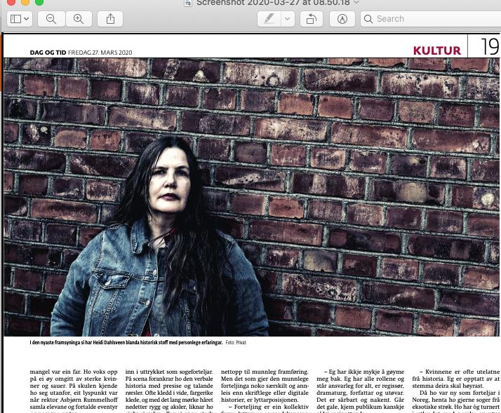 Portrettintervju i Dag og Tid